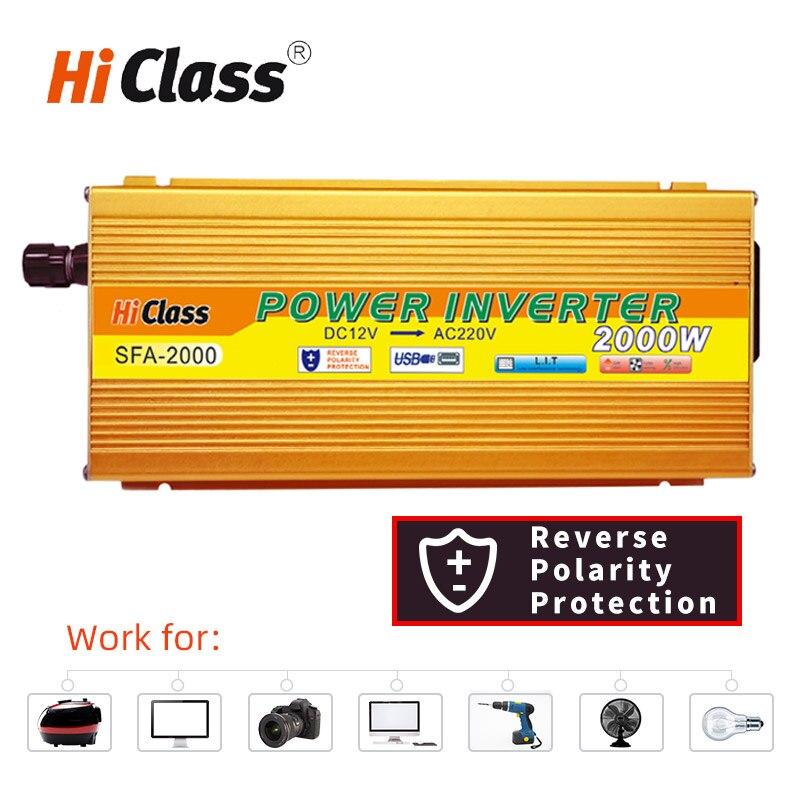 Power Inverter 12v 24v 48v Modified sine wave inverter 1000W/2000W/3000W converter Dc12v to Ac220v Solar Car Voltage transformer